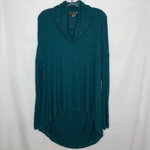 Anthropologie Saturday Sunday Teal Oversized Top